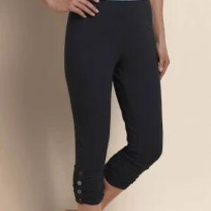 Soft Surroundings Beau crop pants grey leggings